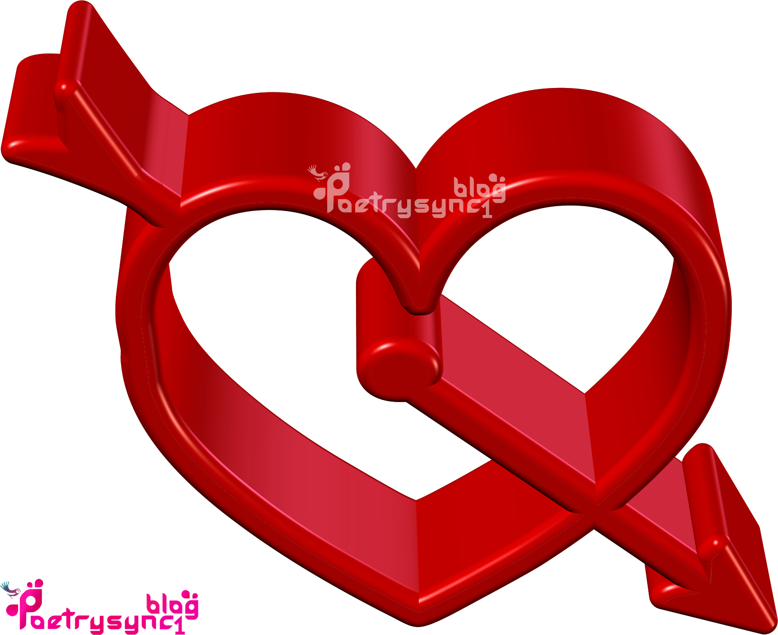 Love 3D Red Hearts Images With Messages In English