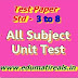Standard - 3 to 8 First Sem. Word and PDF Test Paper Of All Subject  & Educational game