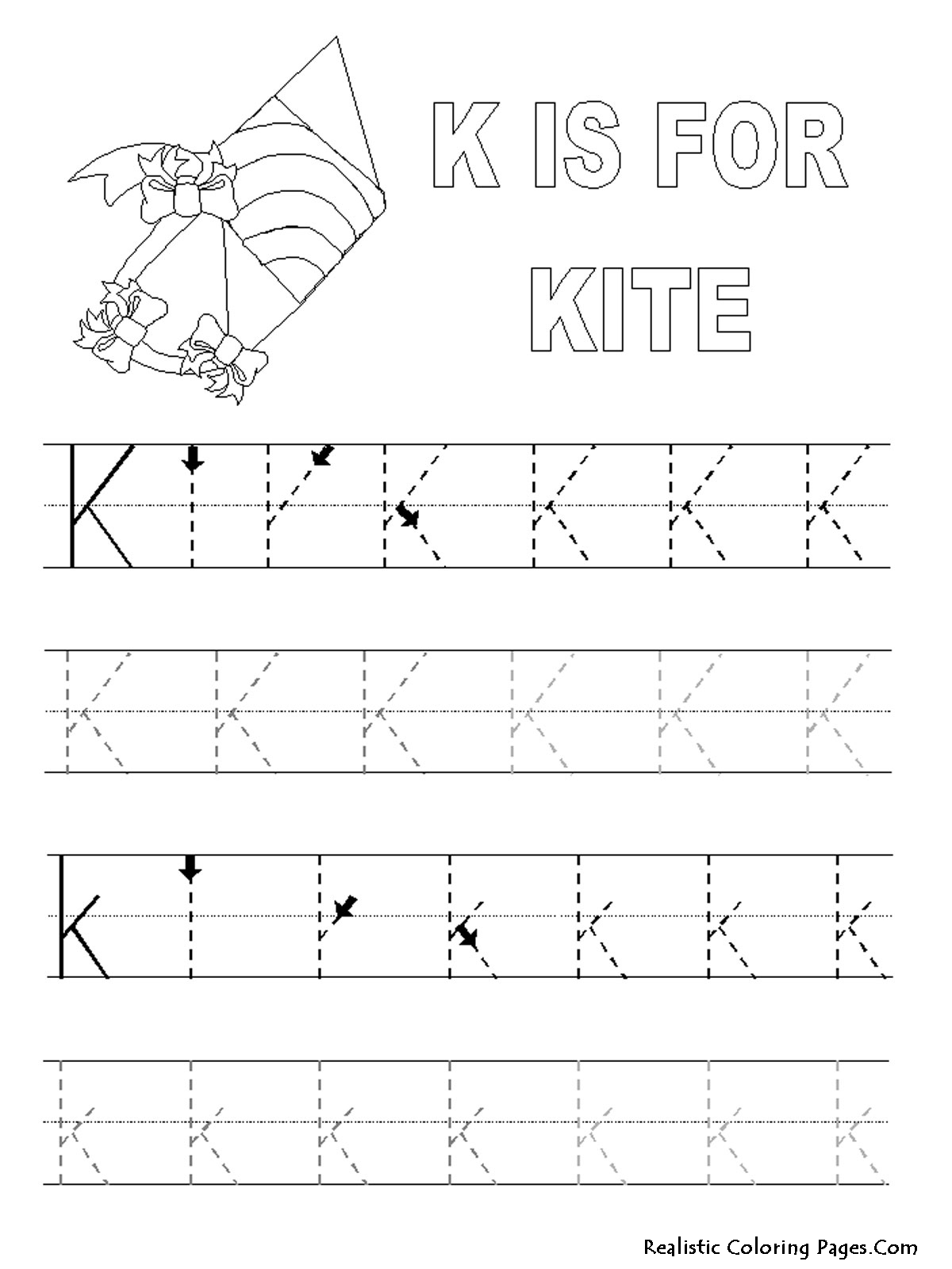 k letters alphabet coloring pages realistic coloring pages. Black Bedroom Furniture Sets. Home Design Ideas