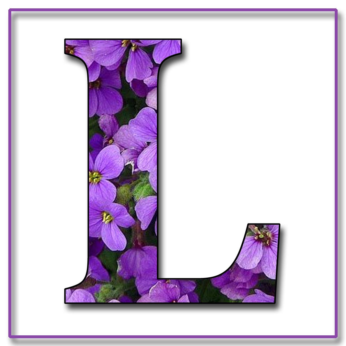 Granny Enchanted S Blog Purple Flowers Free Scrapbook Alphabet Letters In Amp