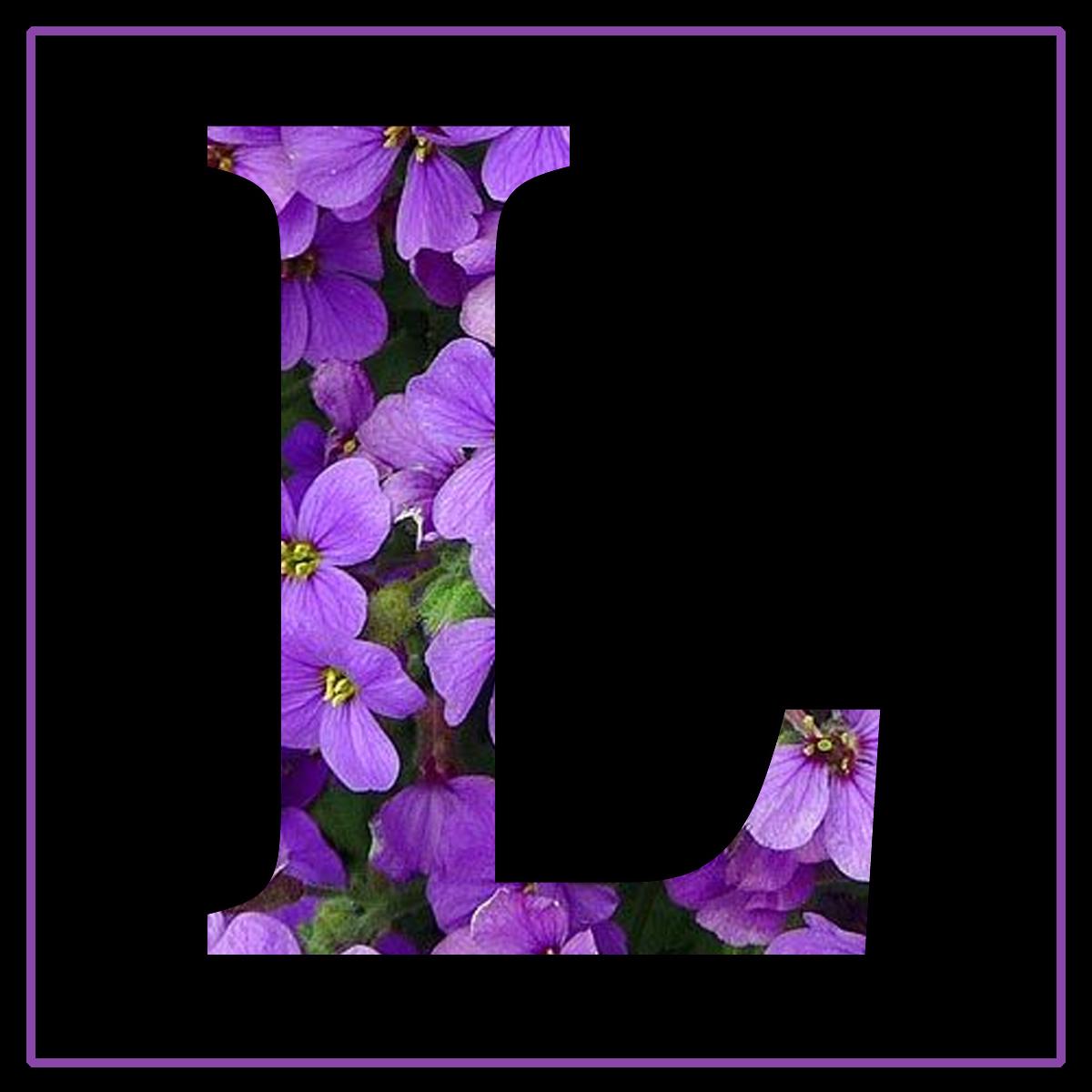 Granny Enchanted S Blog Purple Flowers Free Scrapbook Alphabet Letters In Amp