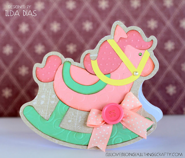 Rocking Horse Shaped Baby Card | SVGCuts