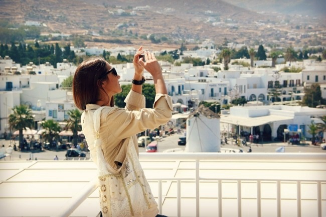 traveling to Santorini