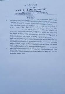 Pernyataan MUI Sumbar Terkait Kasus Ahok