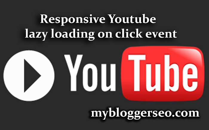 Responsive youtube video com lazy event on click