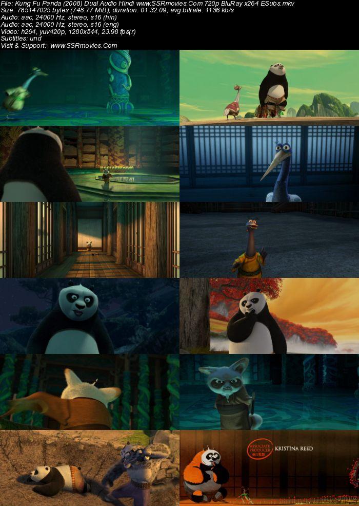 Kung Fu Panda (2008) Dual Audio Hindi 480p BluRay x264 300MB ESubs Movie Download