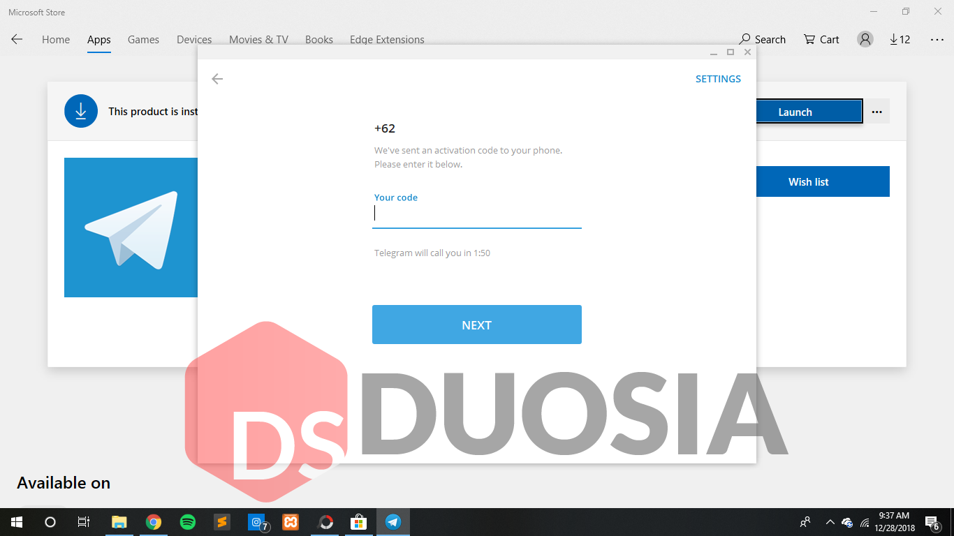 tutorial download telegram versi microsoft store
