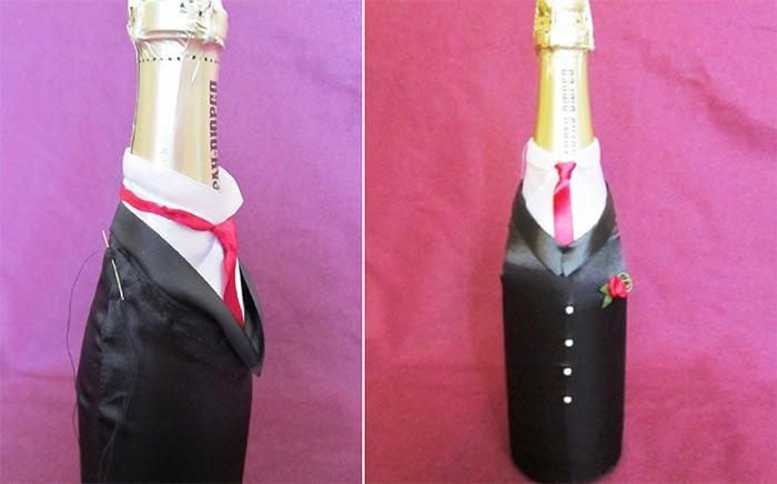 жених, невеста, одежда на бутылки, свадебный декор, украшение бутылок, шампанское свадебное, свадьба, декор свадебный, оформление бутылок, декор свадебного шампанского, декор шампанского, декор бутылок, свадьба, подарки на свадьбуАтласные наряды на свадебное шампанское (МК) http://handmade.parafraz.space/
