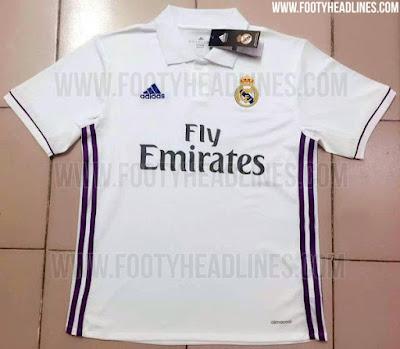Camisa do Real Madrid para a temporada 2016-2017