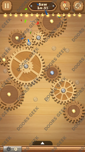 Fix it: Gear Puzzle [Saw] Level 33 Solution, Cheats, Walkthrough for Android, iPhone, iPad and iPod