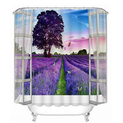 relaxing 3D shower curtain ideas
