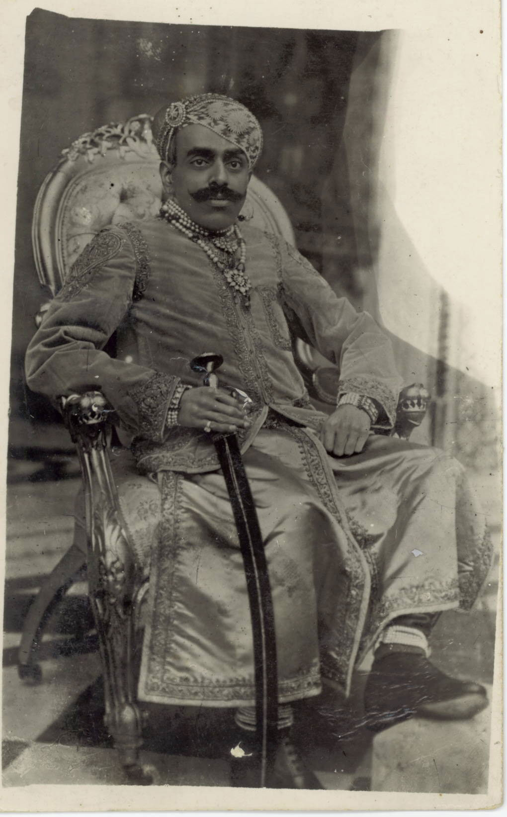 Vintage Photograph of a Royal Person, India