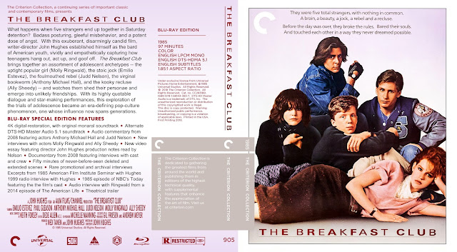 The Breakfast Club Bluray Cover