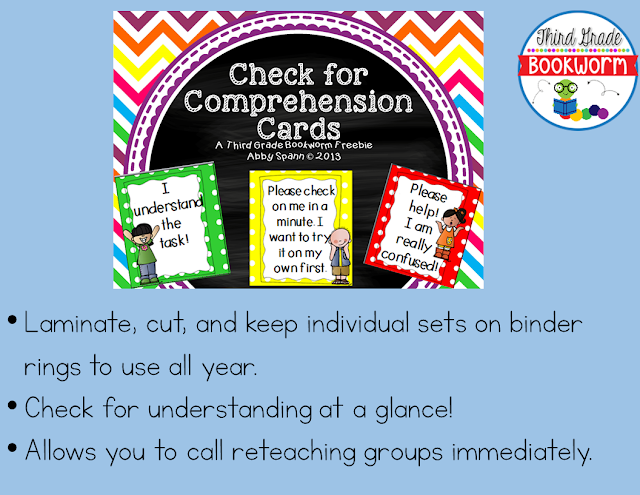 https://www.teacherspayteachers.com/Product/Check-for-Comprehension-Cards-FREEBIE-1069028
