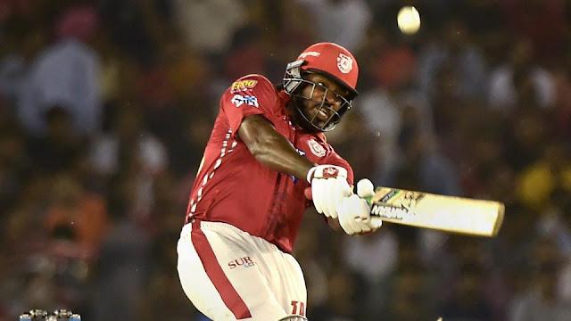 Chris Gayle Batting Kings XI Punjab
