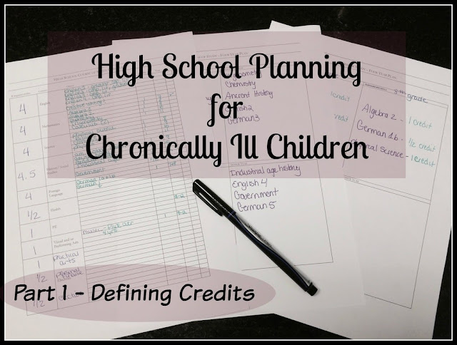 Unexpected Homeschool: High School Planning for Chronically Ill Children - Defining Credit Hours