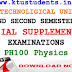 Question Paper for Engineering Physics PH100-Special Supplementary Examination Aug/Spt 2016