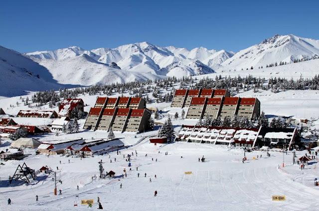 Pista de esqui Las Leñas na Argentina