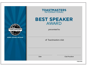 Toastmasters competent leadership manual