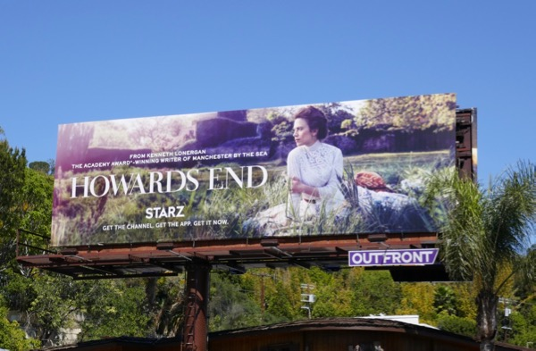 Howards End series launch billboard