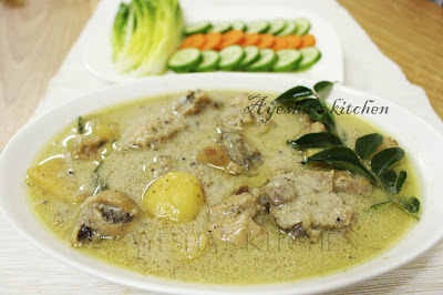 ayeshas kitchen yummy chicken recipe with coconut milk flavorful for breakfast as a  combo sidedish