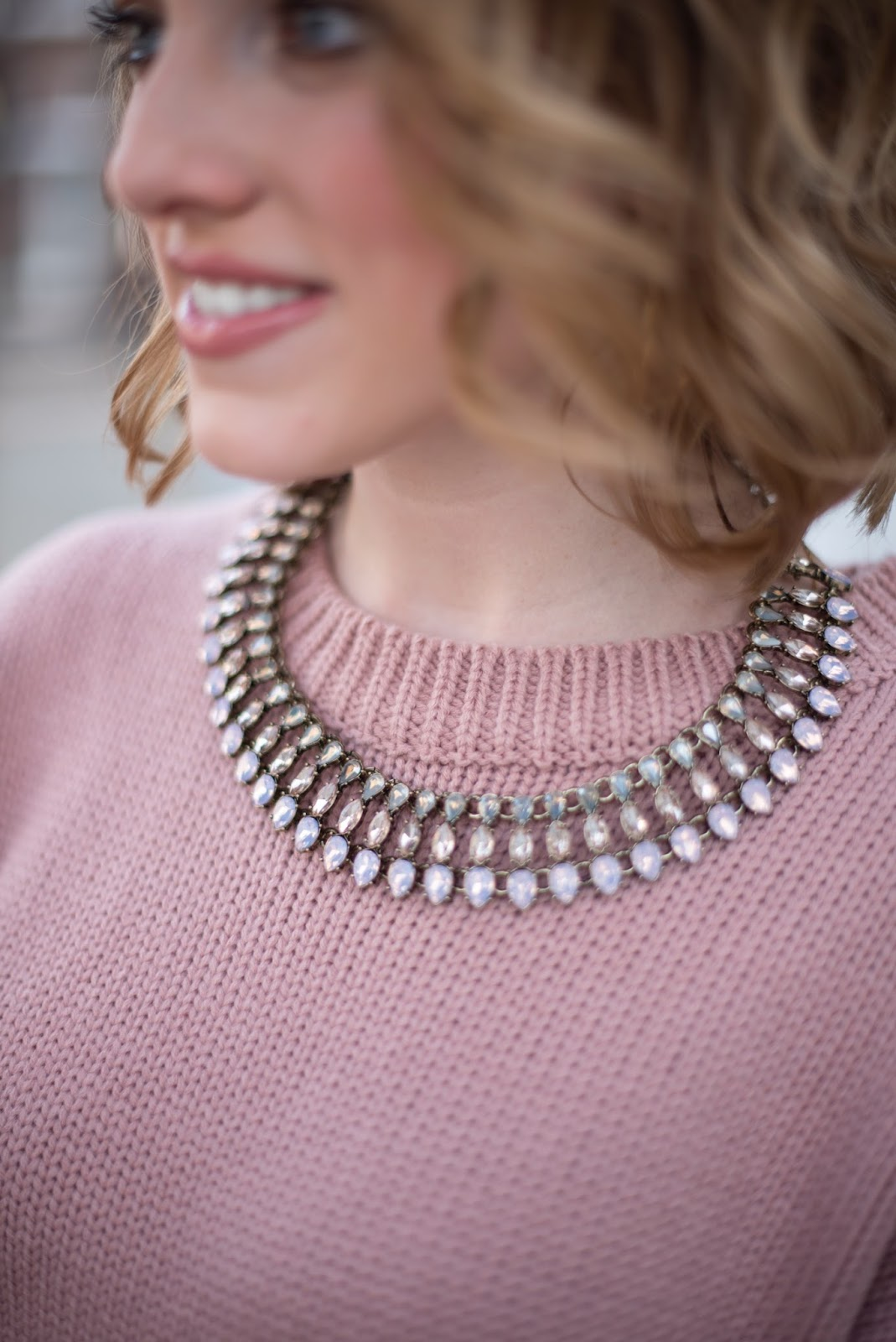Blush Statement Necklace - Something Delightful Blog