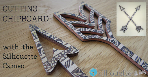 Cutting Chipboard on Silhouette UK Blog by Janet Packer #3dcraft #silhouette #cameo #chipboard #3d #tutorial