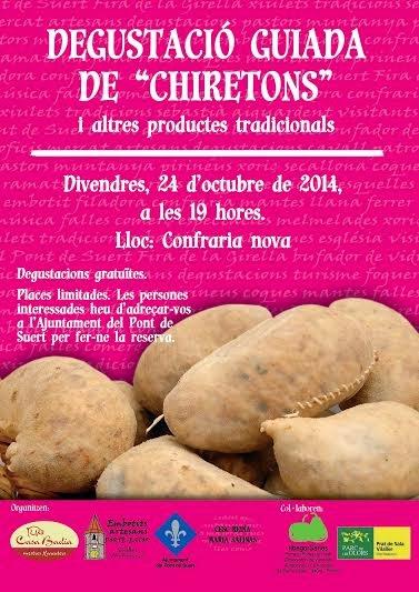 """Degustació guiada de """"Chiretons"""" 24/10/14 al Pont de Suert."""