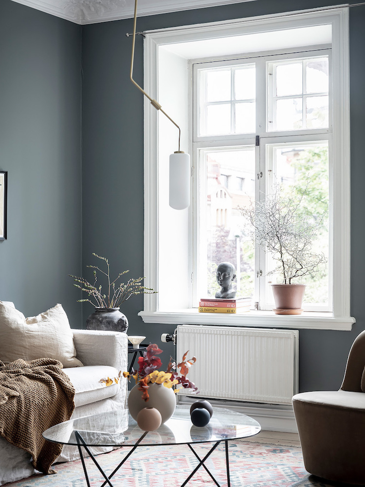 A Swedish Domicile Amongst The Loveliest Earthy Bluish Walls