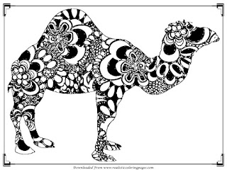 camel adult printable coloring pages free