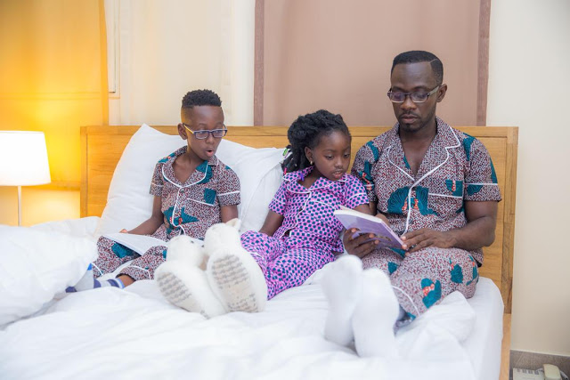 Photos: Okyeame Kwame, Family Debut Pyjamas Line Called 'OK Impressions'
