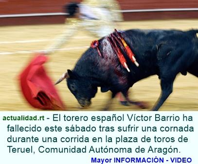 Muere en España tras sufrir una cornada en el pecho (video 18+)