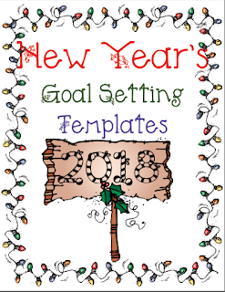 Classroom freebies new year 39 s goal setting templates for New years goals template