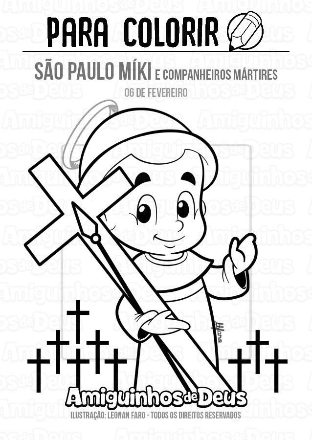 São Paulo Míki desenho para colorir