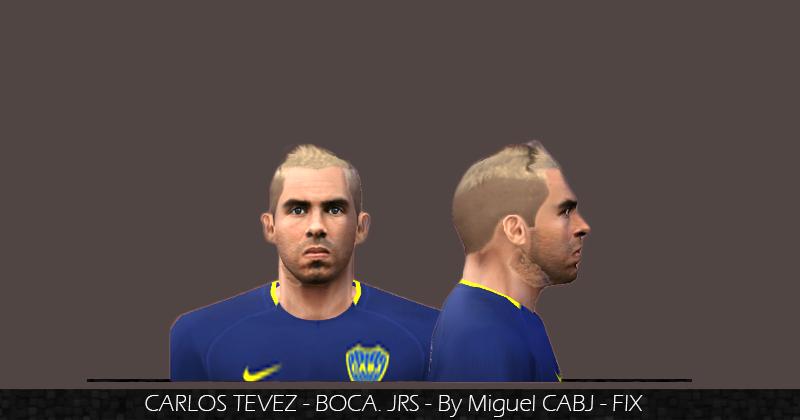 Gta 5 Mobile Pw >> ultigamerz: PES 6 Carlos Tevez (Boca Juniors) Face Fix Blonde Hair 2018/19