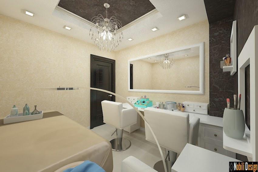 Design interior salon coafor infrumusetare in Bucuresti - Amenajare salon cosmetica Bucuresti