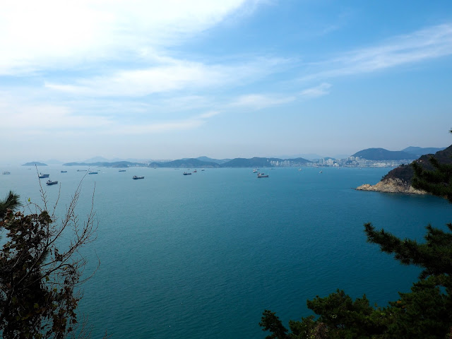 Ocean views from Yeongdo Island, in Taejongdae Park, Busan, South Korea