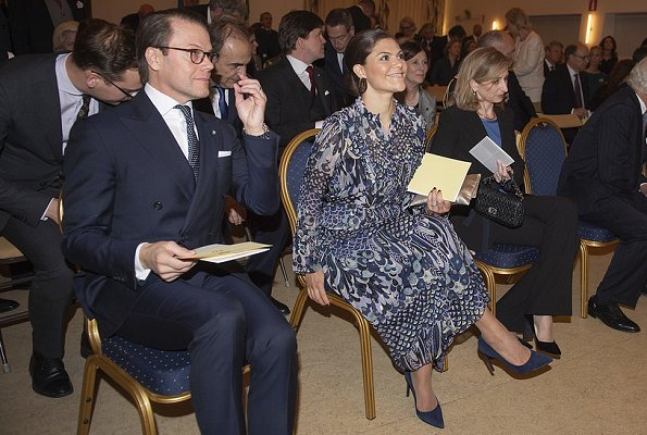 Crown Princess Victoria wore Zadig & Voltaire floral print dress. Princess Sofia wore Ida Sjöstedt Camille dress 3d lace