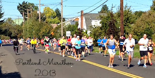 Ann Again and again - Starting The Week Off ... with The Portland Marathon