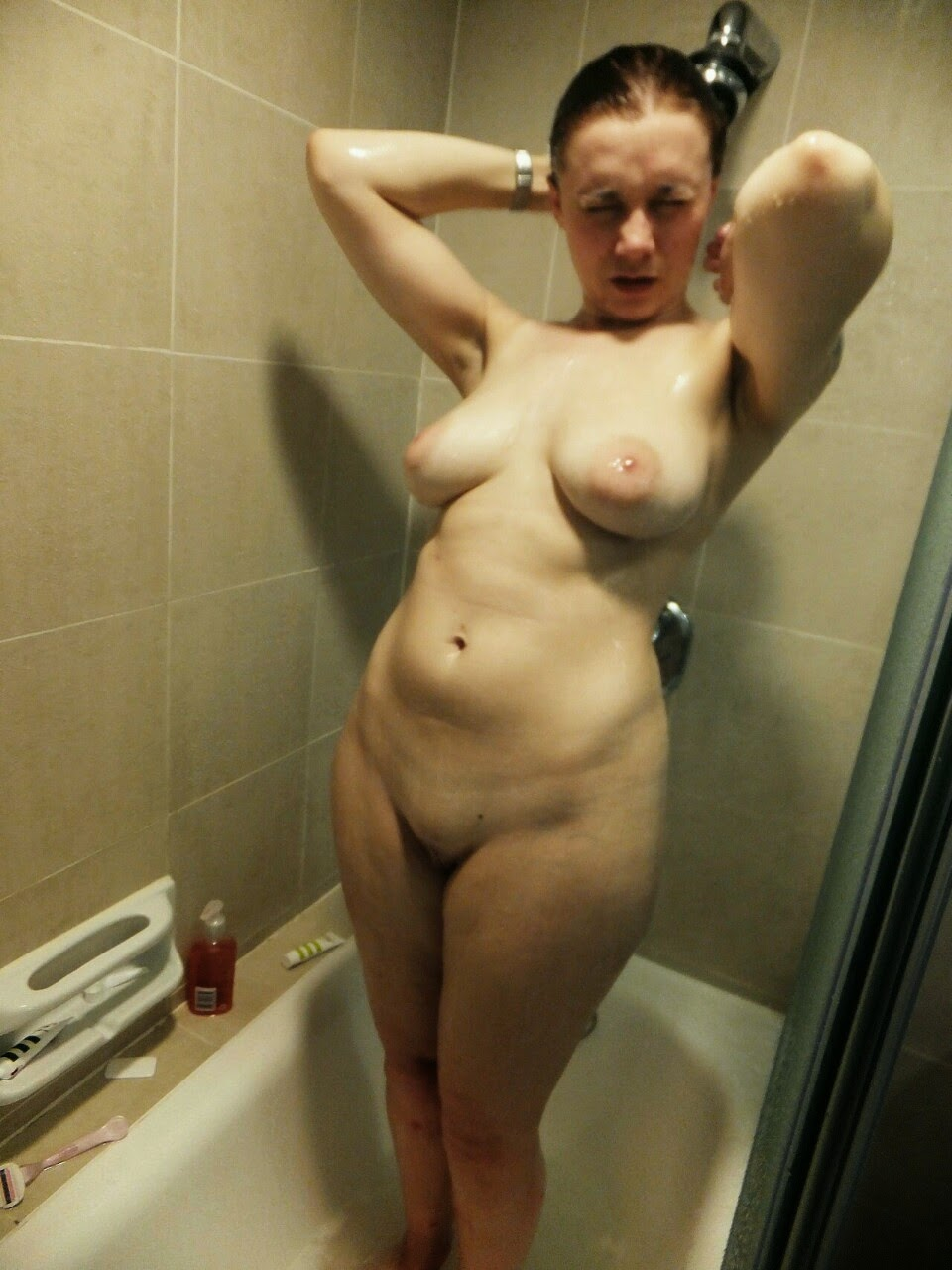 Asian shower lady nudy
