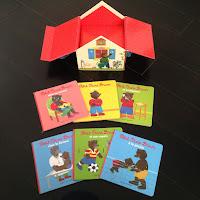 Détail du coffret maison petit ours brun