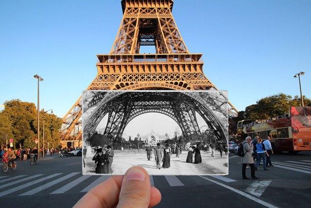 fotografías de París ayer y hoy