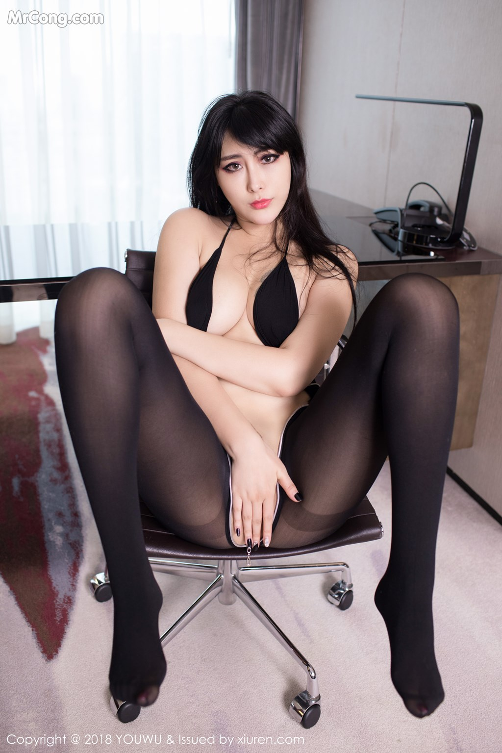 Image YouWu-Vol.113-FoxYini-MrCong.com-008 in post YouWu Vol.113: Người mẫu FoxYini (孟狐狸) (43 ảnh)