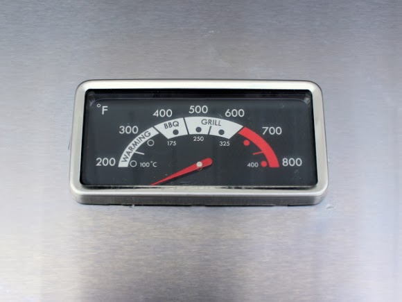 Thermometer on a Kenmore grill