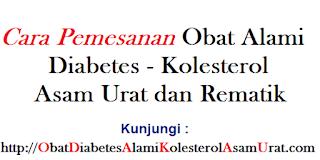 Cara pemesanan Obat alami Diabetes Kolesterol asam Urat dan rematik