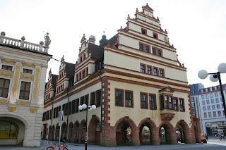 hintere Seite vom Alten Leipziger Rathaus hin zum Nachmarkt