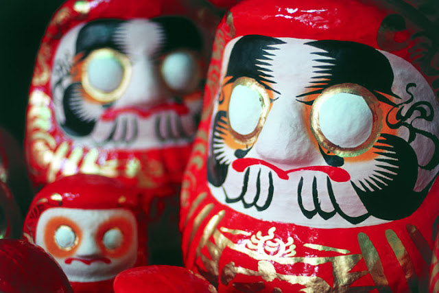 Daruma Doll Market at Shirakawa City, Fukushima