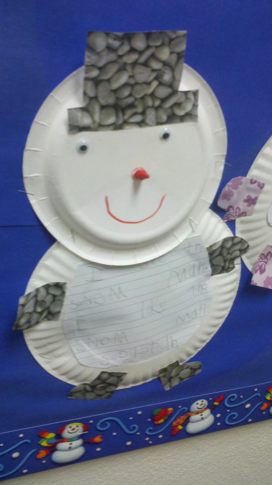 Snowmen With Crayon Carrot Noses