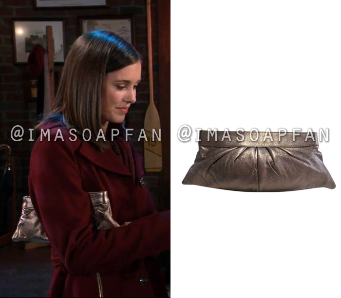 Willow Tait, Katelyn MacMullen, Bronze Leather Clutch, General Hospital, GH