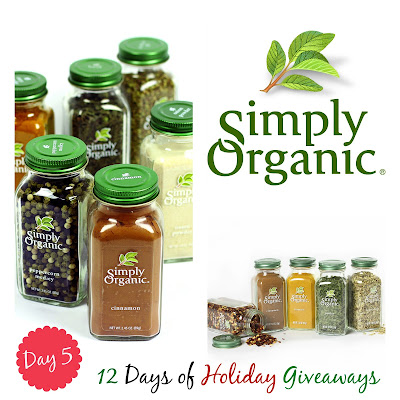 Simply Organic Full Set of New Spices Giveaway...Day 5 of 12 Days of Holiday Giveaways! (sweetandsavoryfood.com)